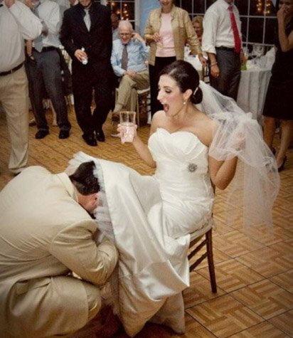 Jarretière de la nouvelle mariée