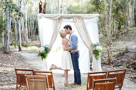 mariage dans la forêt très romantique