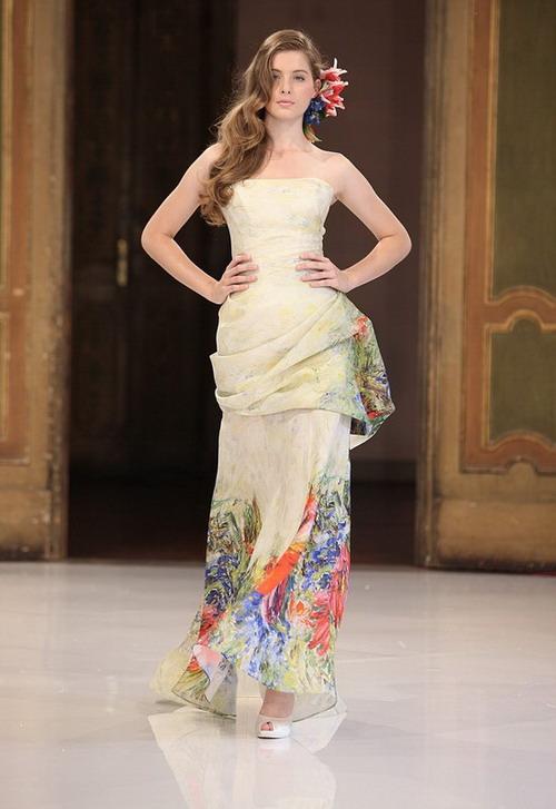 pret a porter de robe mariage imprimé