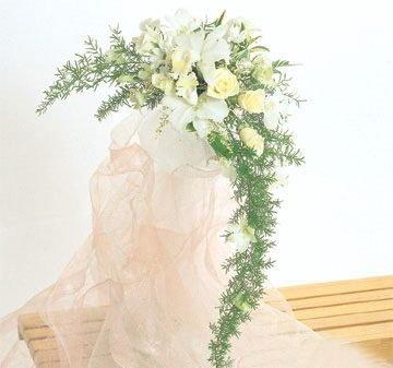 Style croissant, bouquet de mariage