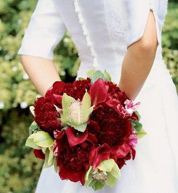 bouquet de la mariée en forme Rond