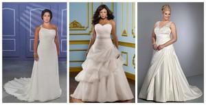 Robe de mariée de grande taille à A-ligne décolletée en coeur ou à seule épaule