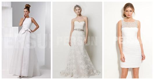 robes de mariée simples en satin ou en dentelle