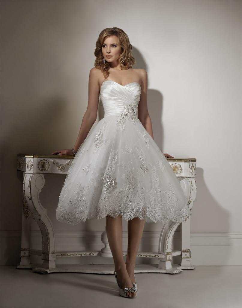 la robe de mariage courte
