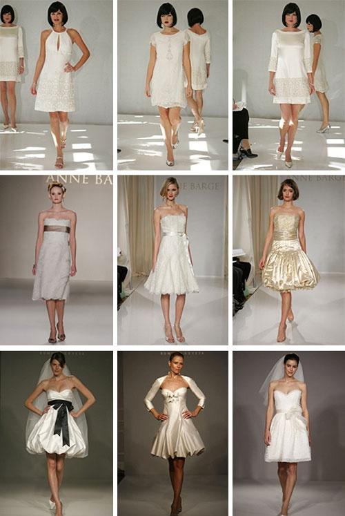 les robes de mariages courtes