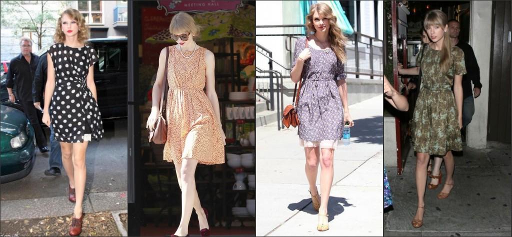 Taylor Swift aime porter les robes courtes vintage en été