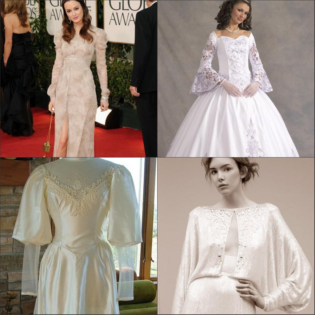 Les manches longues diverses pour les robes mariage
