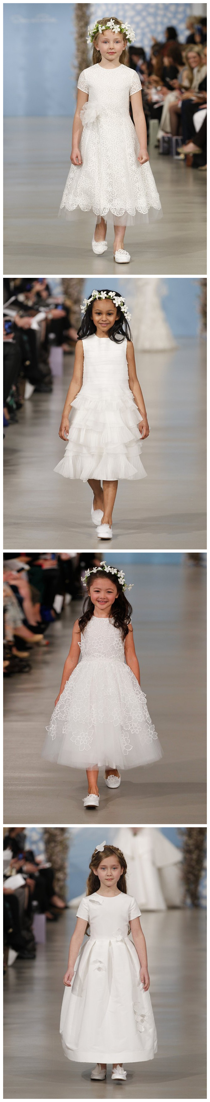 Robe cortége fille blanche de Oscar de la Renda printemps 2014