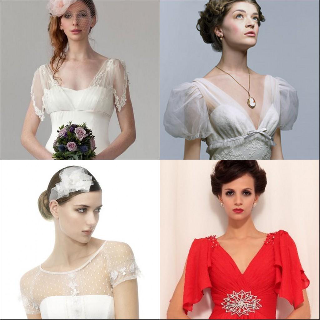 Les manches courtes diverses pour une robe de Mariée