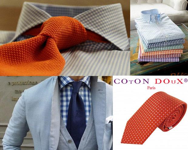cravate et chemise Gingham style