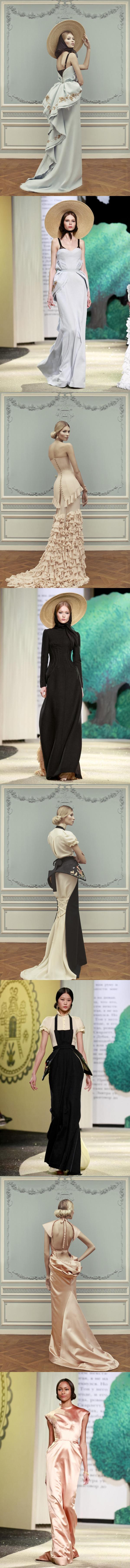 Les robes de soirée longues issues de la collection haute couture 2013 d'Ulyana Sergeenko