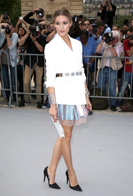 Olivia Palermo dans un ensemble pour assister au défilé Christian Dior haute couture 2013