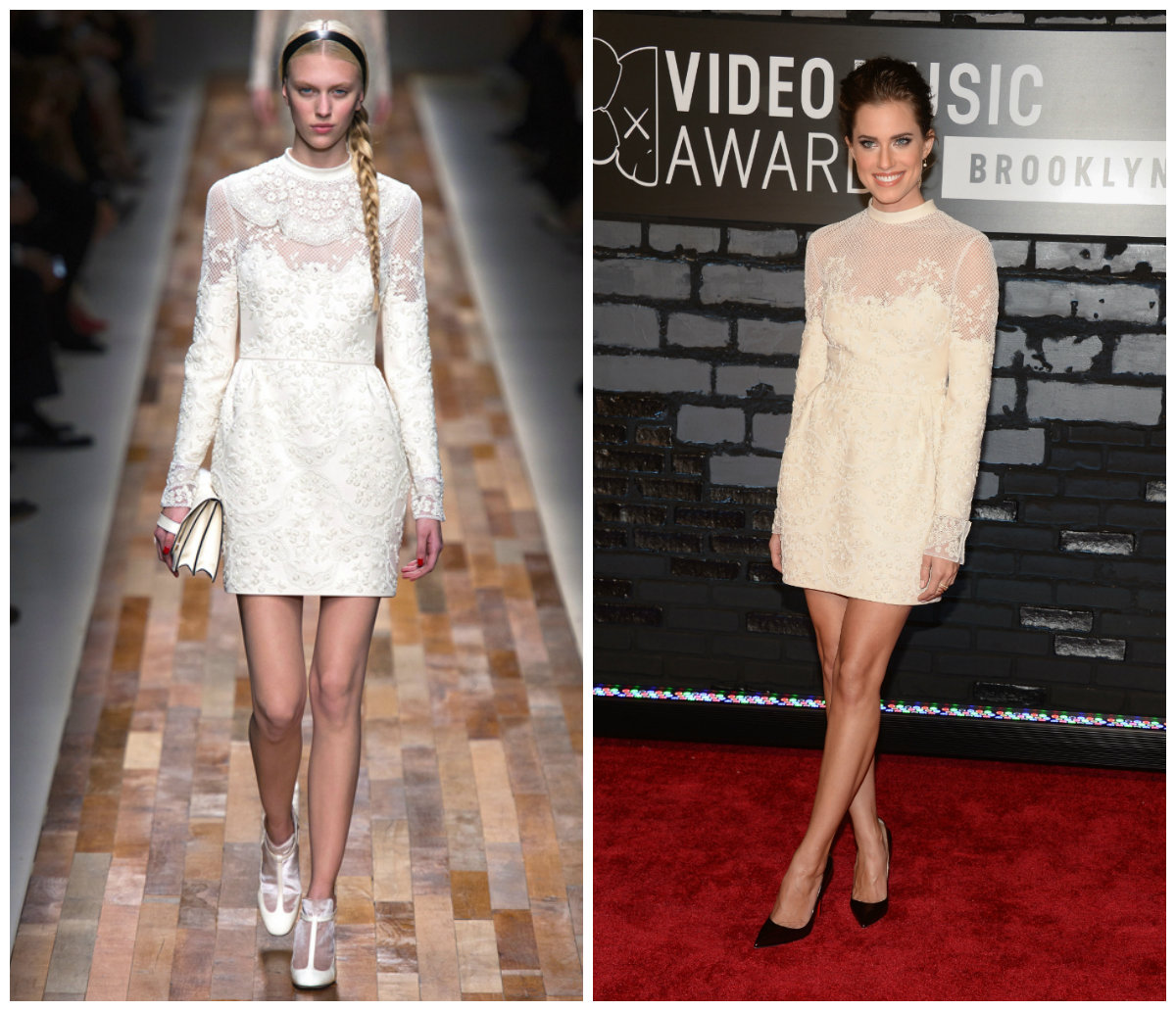 Alisson Williams opte pour une robe dentelle blanche signé Valentino
