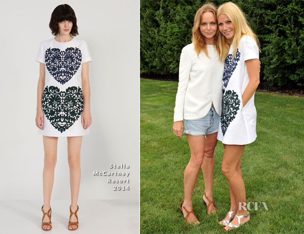 Une robe courte blanche issue de la collection croisière 2014 de Stella McCartney