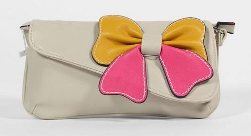sacoche de mariage à noeud papillon bicolor