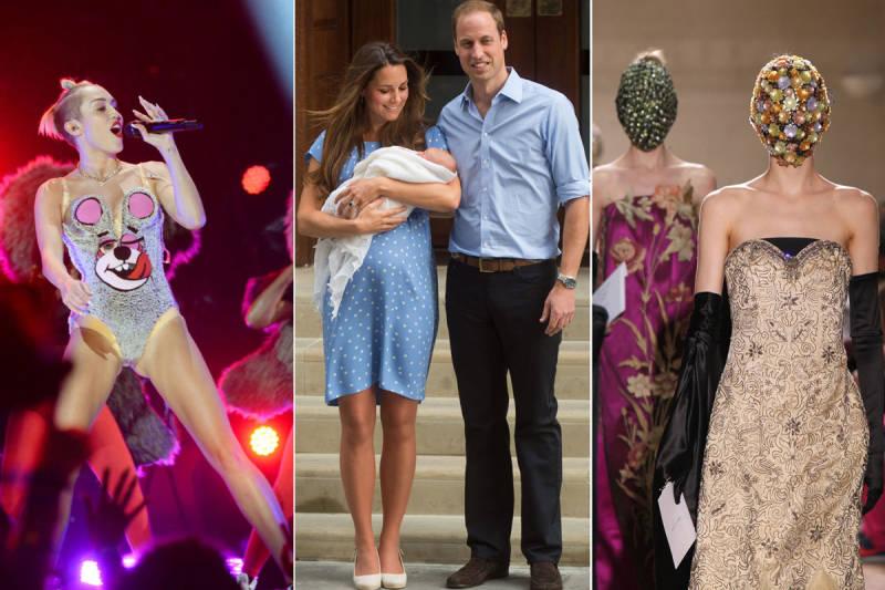 Le buzz sur la mode 2014: la tenue de Miley Cyrus, la naissance du prince George et les défilés magnifiques