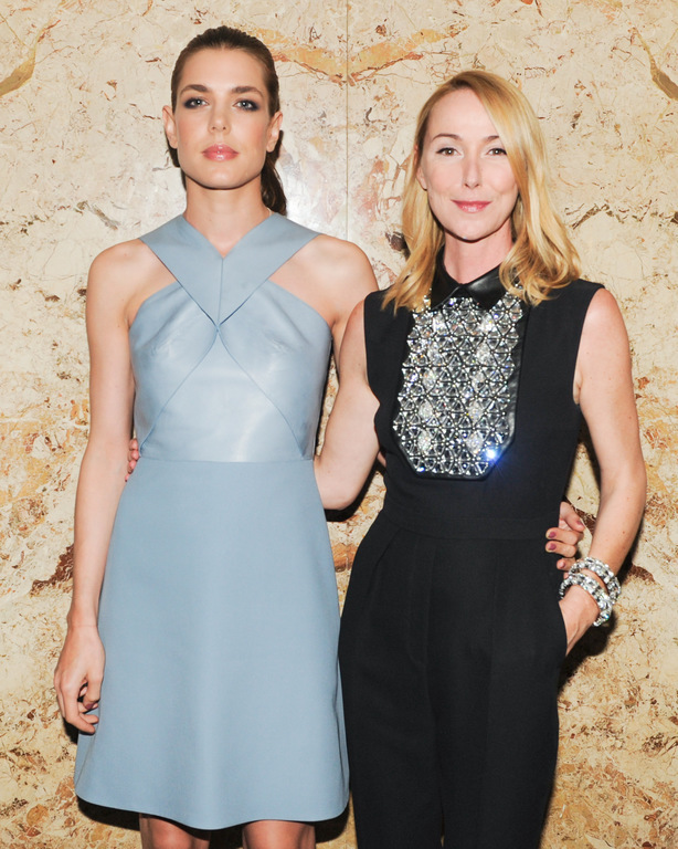 Charlotte Casiraghi et Frida Giannini à la soirée Gucci à New York