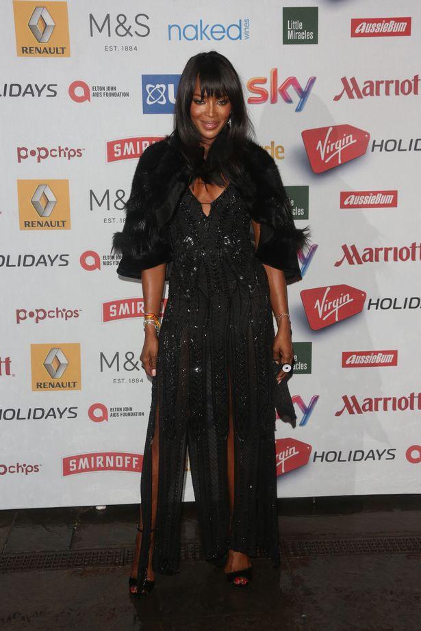 """Naomi Campbell à la cérémonie de remise de prix """"Attitude Awards"""" à Londres"""