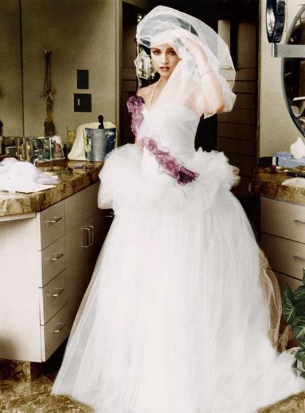 robe de mariée de Madonna