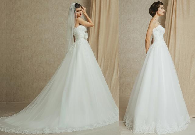 robe mariage princesse avec et sans traîne