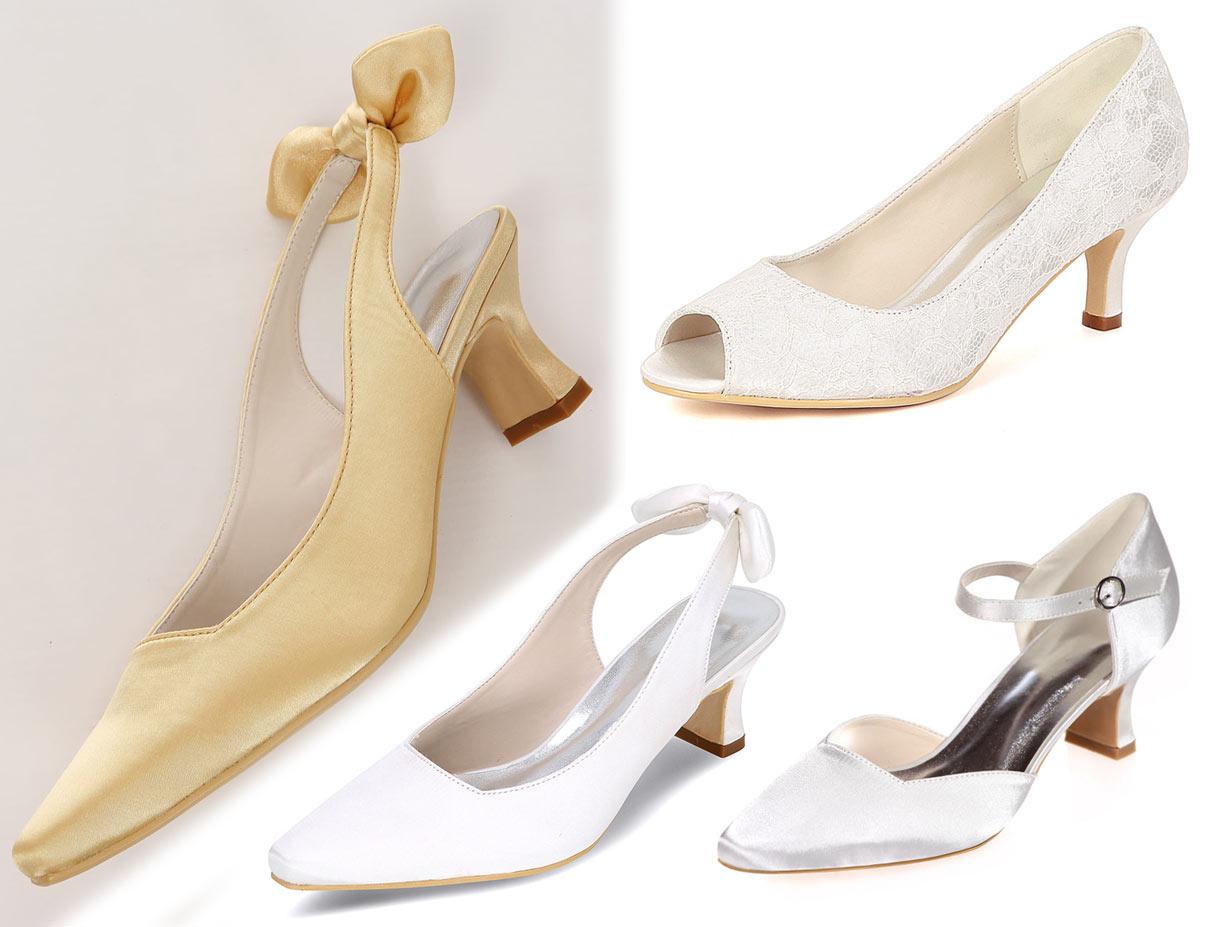 chaussures mariage petit talon pour femme enceinte