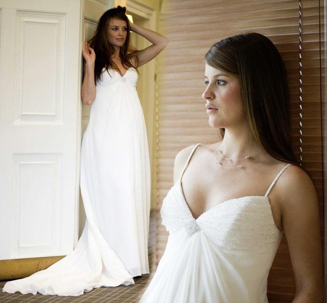 robe taille empire et fluide pour femme enceinte