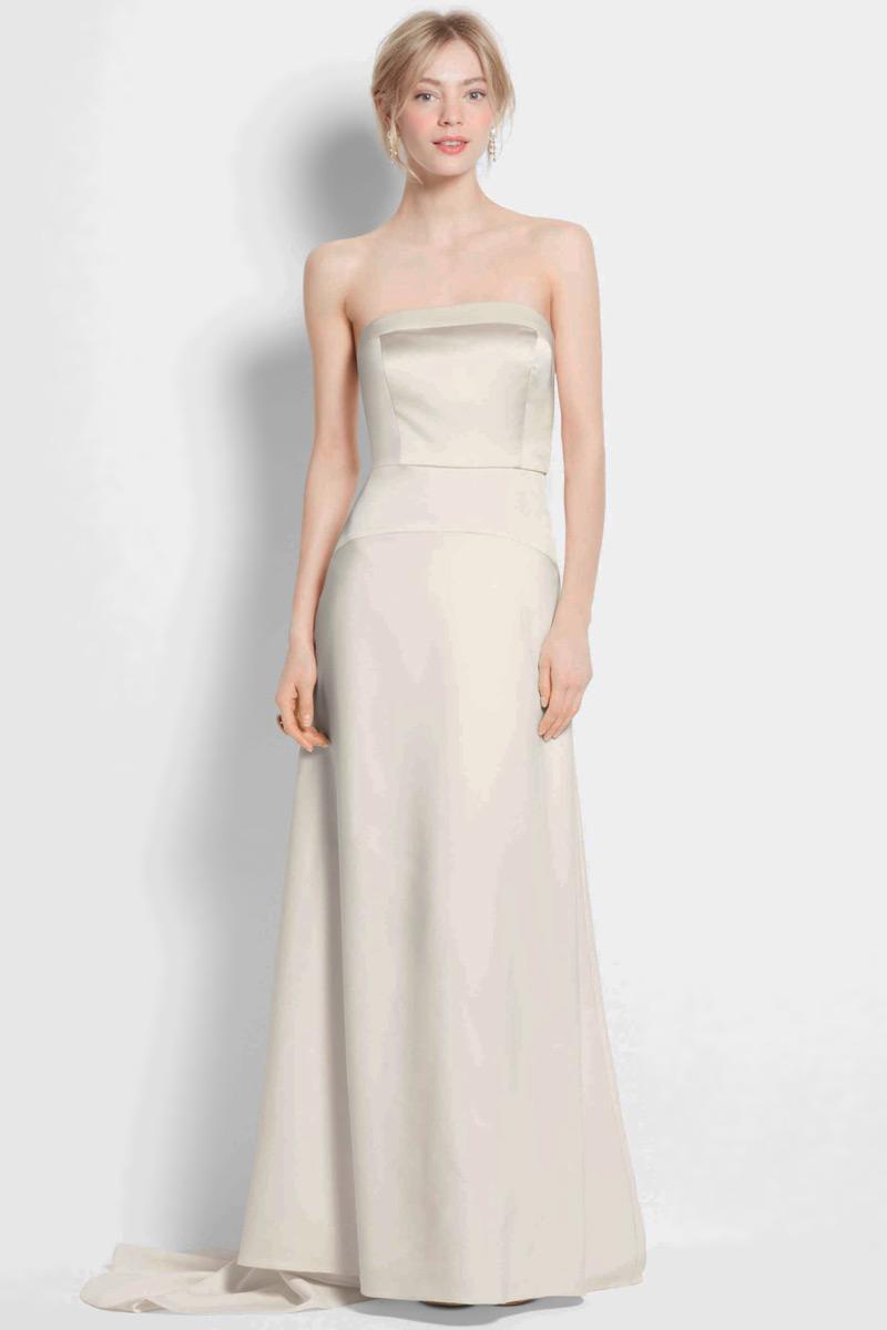Robe de mariée simple bustier 2015