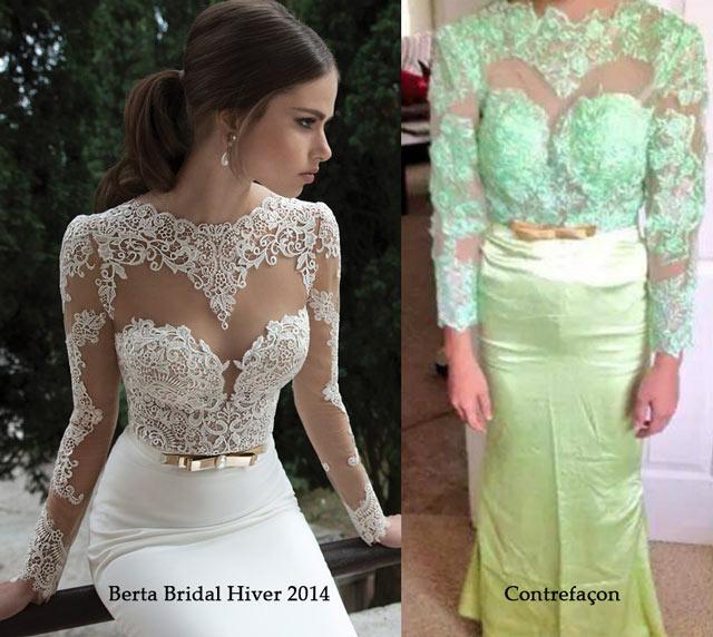 robe de mariage contrefacon