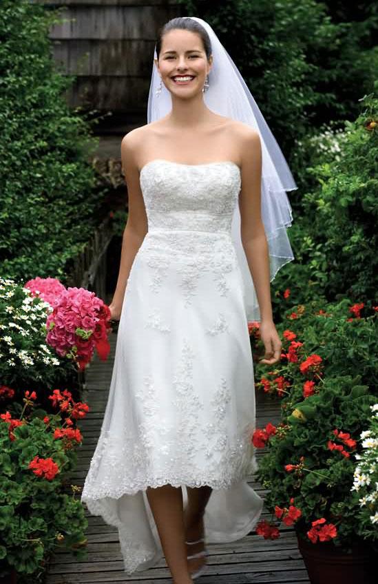 robe-mariee-longueur-mollet-derriere-longue  Robe de mariée ...