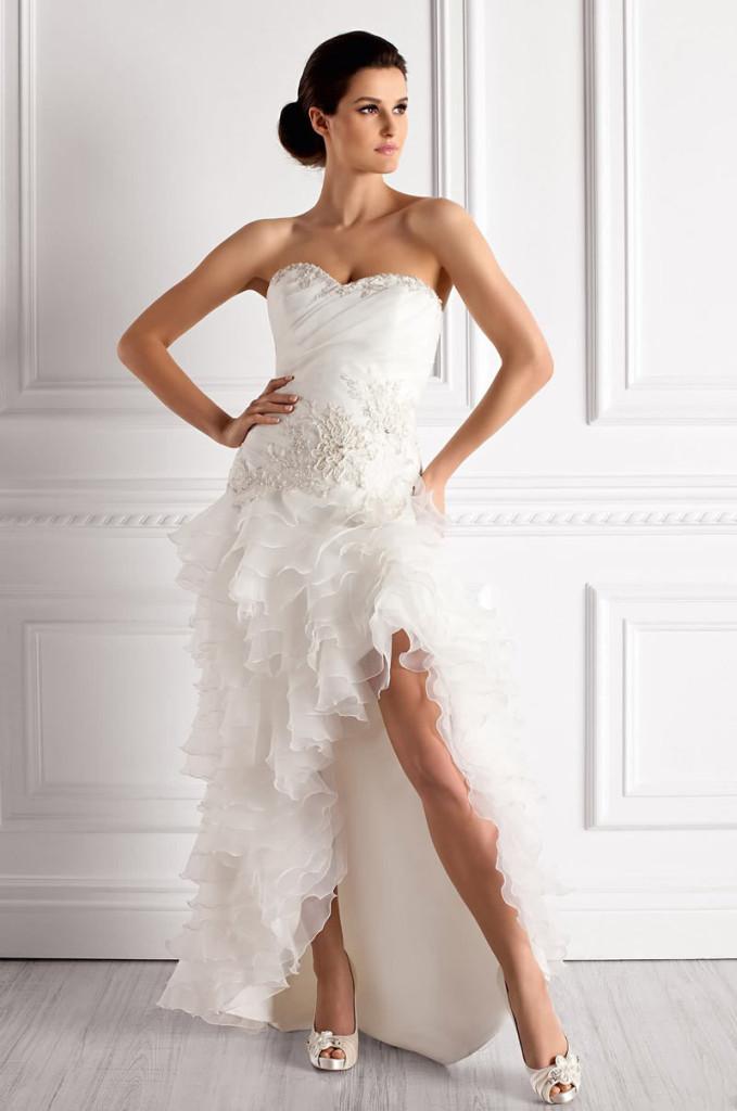 robe ourlet asymetrique pour mariee moderne robe de