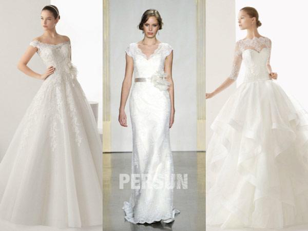 robe-mairee-dentelle-ruchee-blanche-elegante