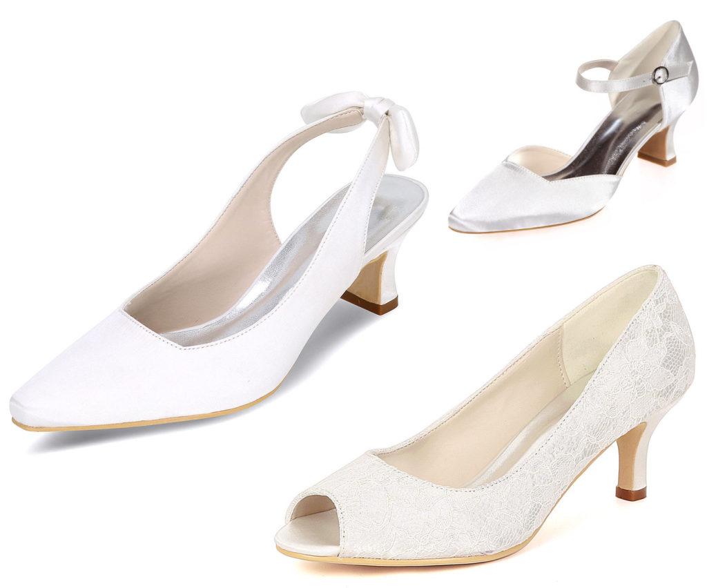chaussure pour mariage enceinte à petit talon