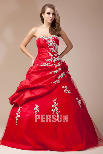 Robe de mariée rouge - Couleur chaude pour lhiver-printemps  Robe ...