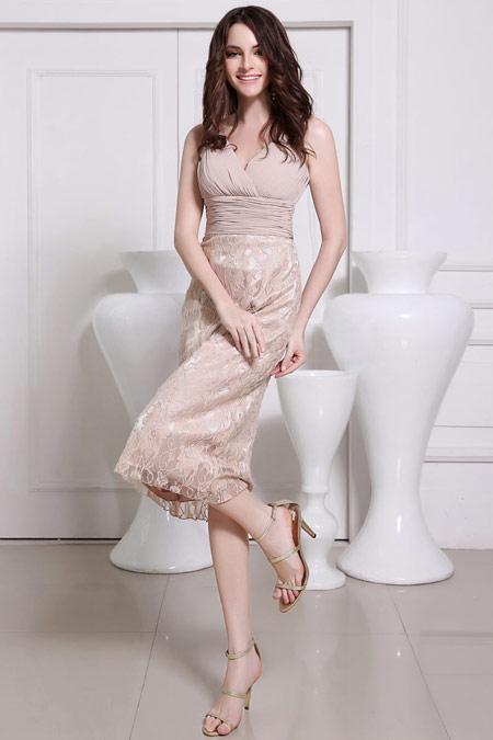 robe-demoiselle-dhonneur-mi-longue-dentelle