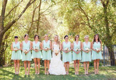 Robe de demoiselle d'honneur pastel – Le mariage à l'automne