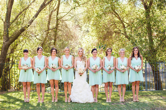 robe-demoiselles-dhonneur-courte-verte
