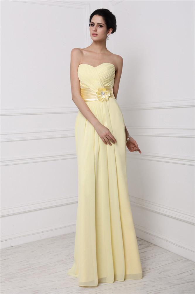 Robe de cocktail pour mariage jaune