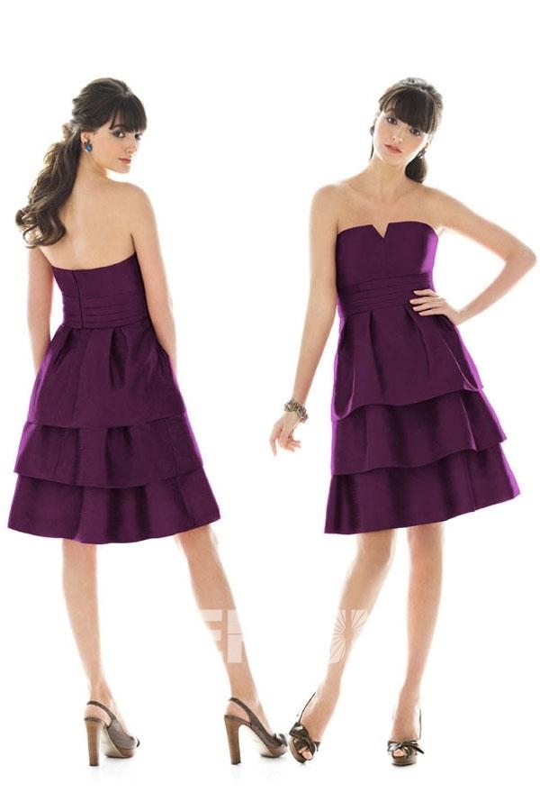 robe-demoiselles-dhonneur-violette-bustier