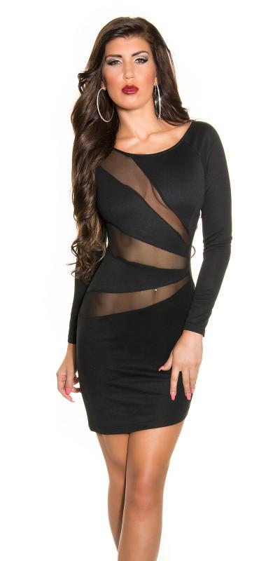 robe-sexy-moulante-avec-empiecements-en-tulle-noir