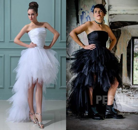 Robe de mariée noir vs Robe de mariée blanche