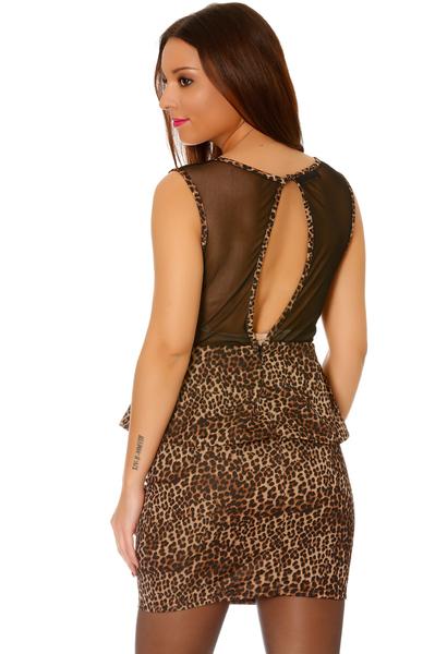 robe-de-soiree-courte-leopard
