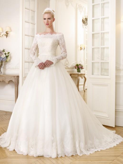 Robe mariee avec manche longue