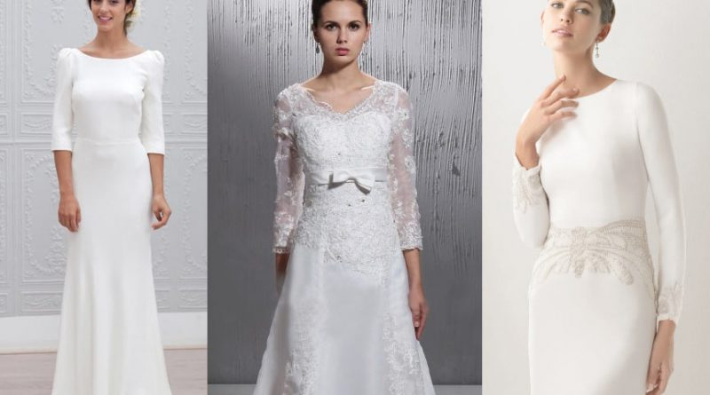 Montage photo : Robes mariage manches pour les rondes