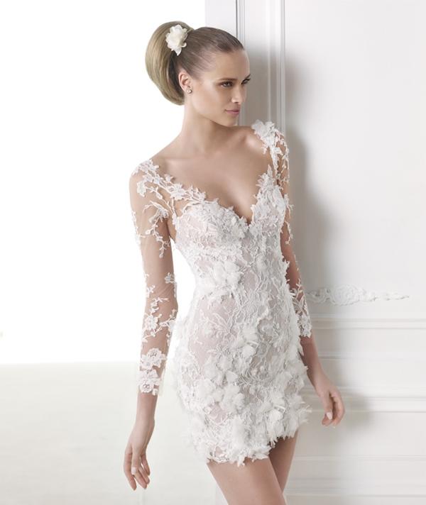 Parlons de robes de mariée, mais les courtes cette fois-ci