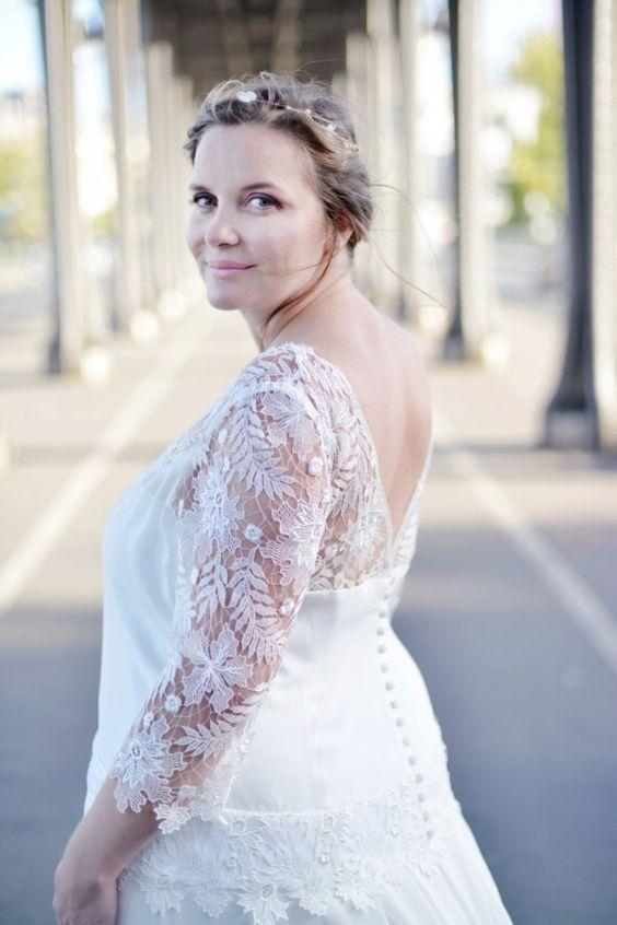 Robe de mariee femme enceinte grande taille