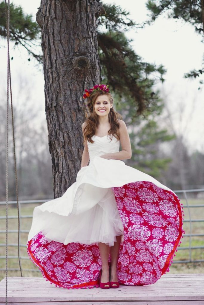 Une-robe-au-jupon-coloré