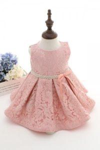 robe vintage rose en dentelle pour fille