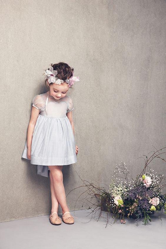 robe mariage enfante style empire