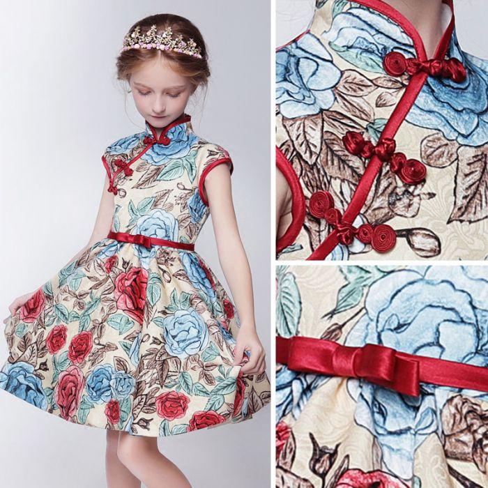vintage robe cérémonie de fille courte