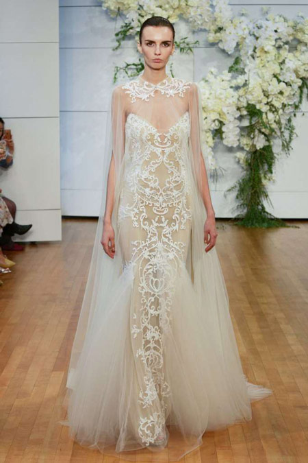 robe de mariée sexy fourreau transparente appliqué de dentelle